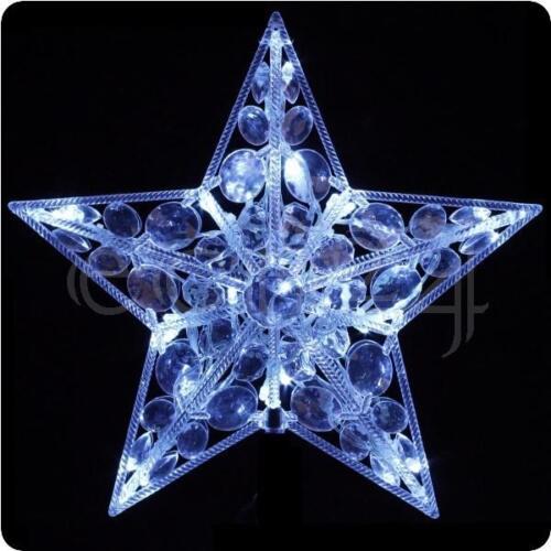 Stern in kaltweiss LED Weihnachtstern als Fensterdekoration