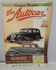 The Autocar Magazine July 5 1935 Vintage Automobile Ads Morris New 6 Cylinder