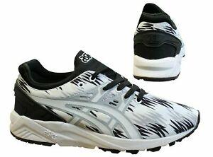 Asics-Gel-Kayano-Evo-Lacet-Noir-Blanc-Lacets-Baskets-Homme-H6C3N-9001-Z60A