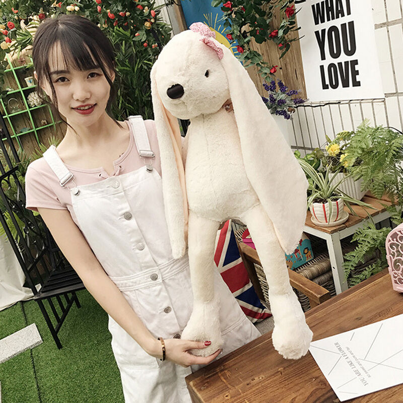 28 Giant Stuffed Plush Bunny Rabbit Toy Big Soft Anime Pillow Doll birthday gift
