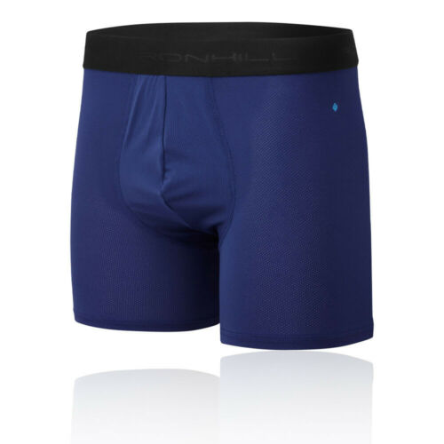 """RonHill Mens 4.5/"""" Boxers Blue Sports Running Breathable Lightweight"""