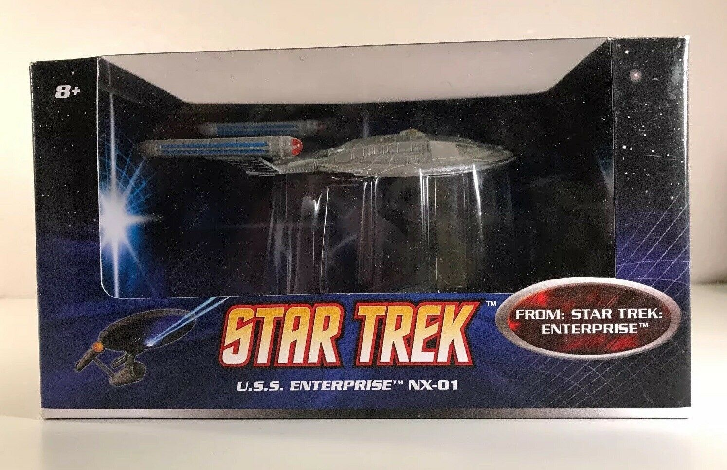 Star Trek USS Enterprise NX-01 Model With Stand Mattel Hotwheels New In Box
