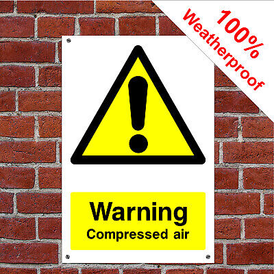 Warning compressed air garage safety sign GAR02 Waterproof signs and notices