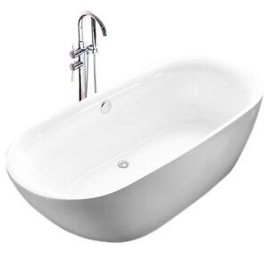 Vasca da bagno centro stanza design stondato acrilico ...