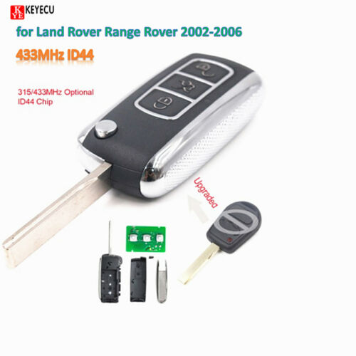 Remote Car Key Fob 433MHz ID44 for Land Rover Range Rover 2002-2006 //Sport 2006