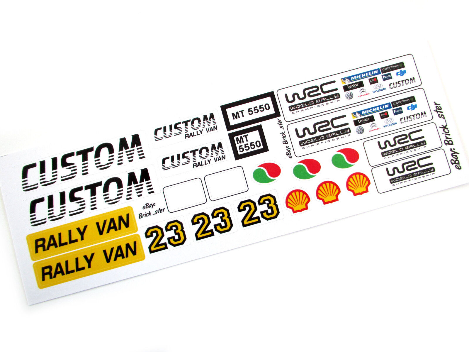 STICKERS for Lego 7848 60016 4432 3180 CUSTOM TRUCK BUILDS Models Toys Etc