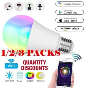 Wifi-Smart-Multi-Color-LED-Light-Bulb-for-Amazon-Alexa-Google-Home-App-Remote-CA