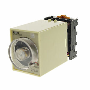 24VAC-DC-30-Minutes-Power-Off-Delay-Time-Relay-With-Base