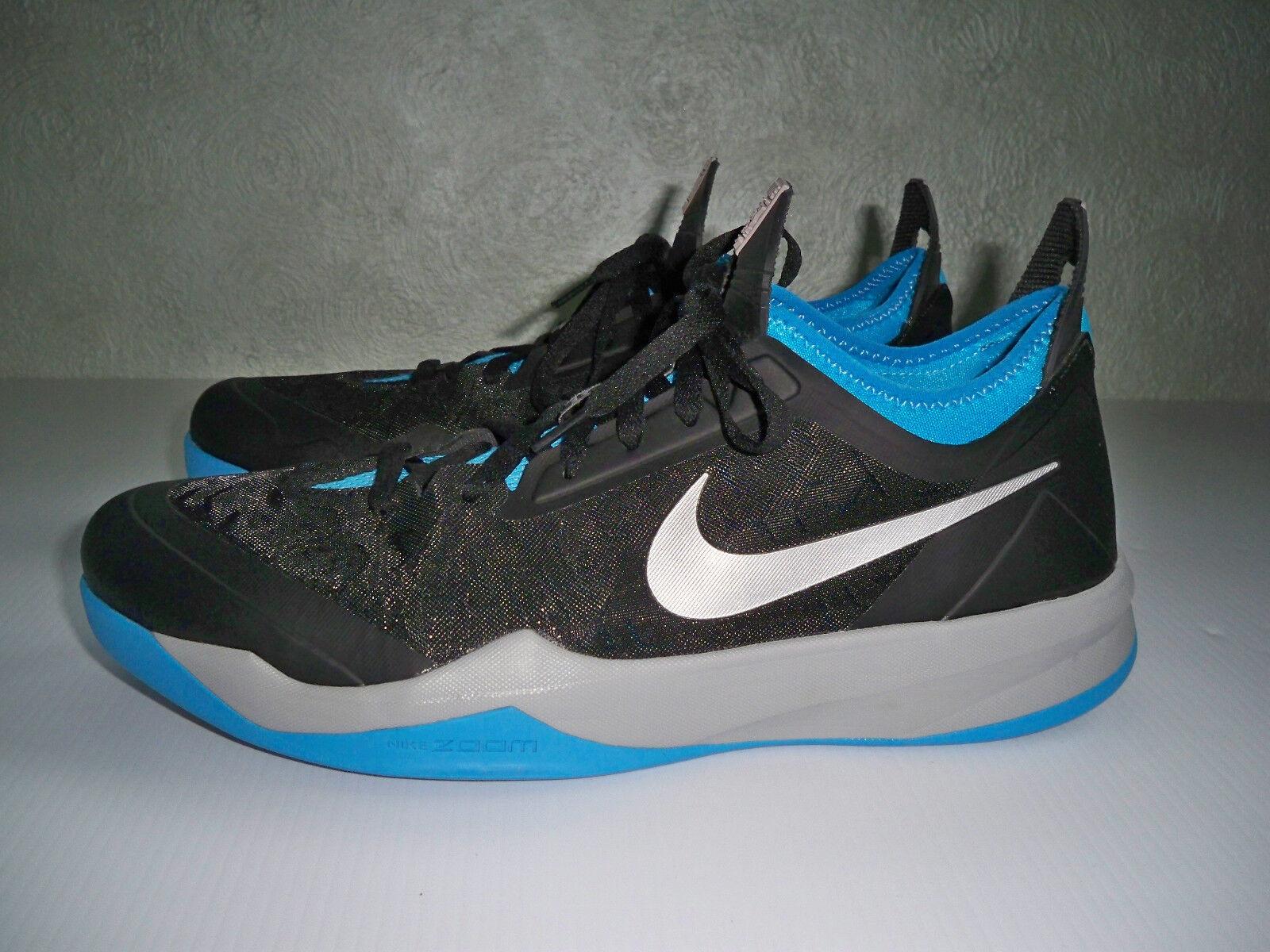Nike Mens Mens Mens Zoom Crusader Low Basketball shoes 630909-002 SZ 14 Black bluee MINT 549eba