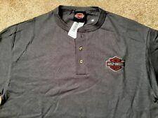 Harley Davidson bar and shield dark gray henley Shirt NWT  Men's Medium