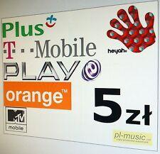 Doladowanie 5 pln ORANGE,PLUS,T-mobile,HEYAH, PLAY - DOLADUJ z zagranicy /PayPal