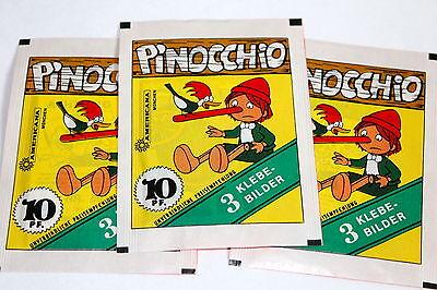 AMERICANA 1978 PINOCCHIO 3 x Tüte packet bustina SELTEN! RARE!