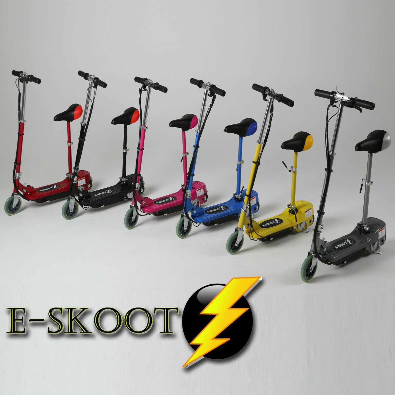 Electric Scooter Kids Battery Ride On Toy Bike Stand Escooter Adjustable Seat