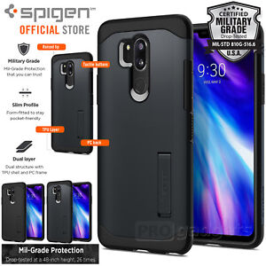 online store 296c7 c0956 Details about LG G7 ThinQ Case, Genuine SPIGEN Slim Armor Heavy Duty Soft  Cover for LG