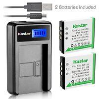 Kastar Battery And Lcd Slim Usb Charger For Fujifilm Np-50 Kodak K7004 D-li68