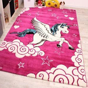 Girls Pink Bedroom Rug Children Play Room Carpet Kids Nursery Mat Small Large Xl Ebay