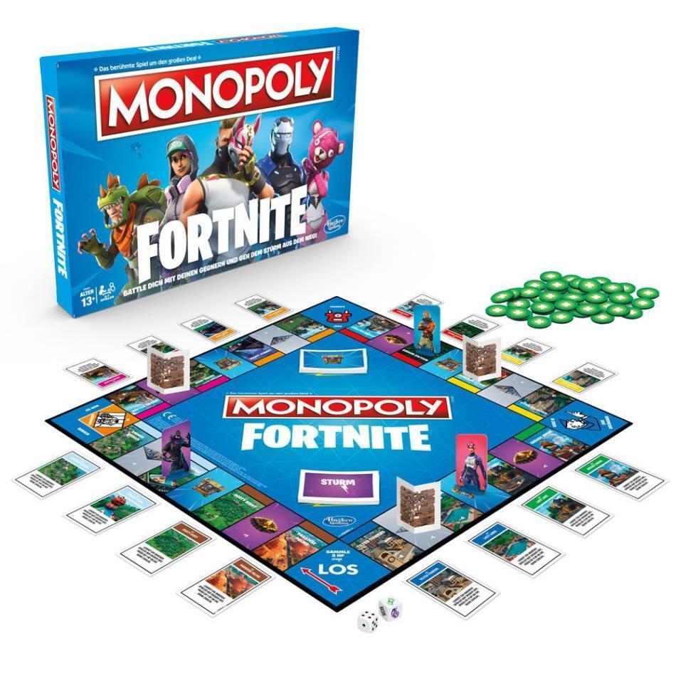 Fortnite Brettspiel Monopoly Hasbro Deutsch E6603100