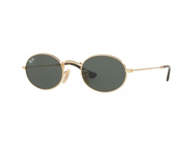 lunettes de soleil Ray Ban RB3547N oval or métal vert ferragni 001