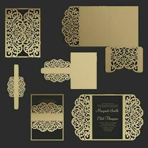 Wedding Invitation Lace Cutting Dies-Stencils-Scrapbook ...