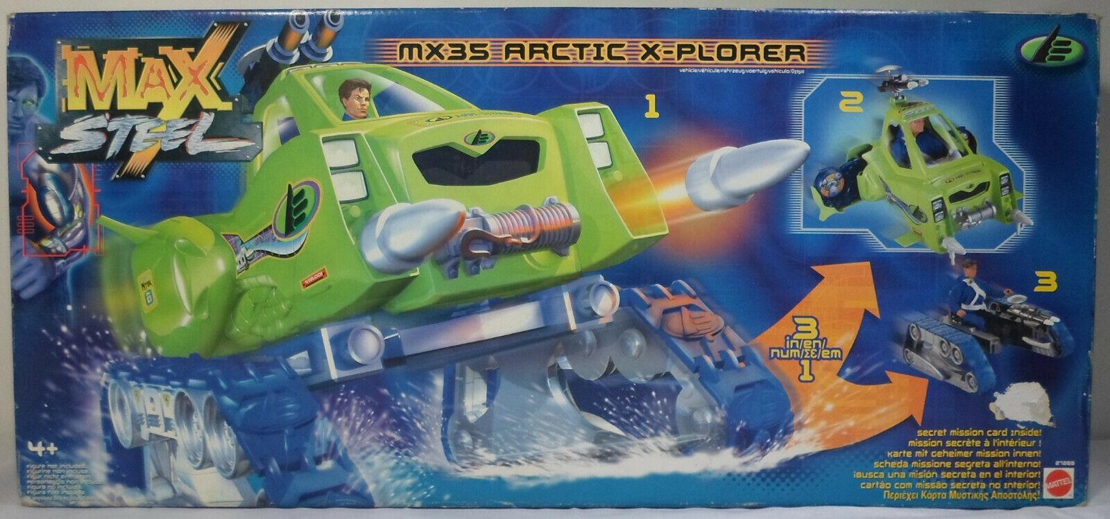 MATTEL  2000 MAX STEEL MX 35 ARCTIC X PLORER VEHICLE MISB EUROPEAN SEALED RARE  shopping en ligne