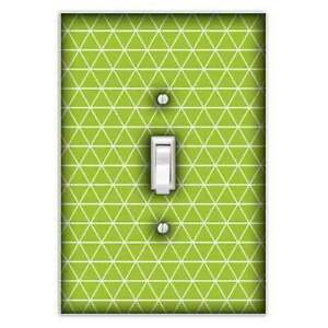 Triangles Lime Green Decorative Single Toggle Light Switch Cover Switch Plate Ebay