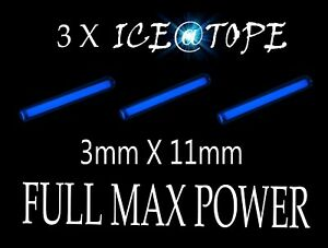 Iceatope-3-x-Ice-UV-Bleu-isotope-auto-3-mm-x-11-mm-Full-Max-Power-Carpe-Kit