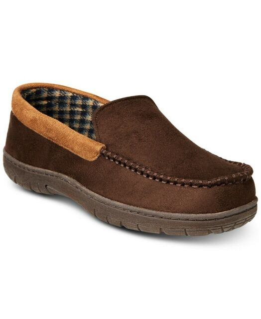 23f933591ad 32 Degrees Heat Mens Brown Memory Foam Moccasin Faux-suede Slippers Size 8-9