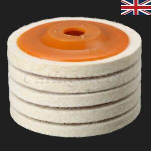 Round Wool Felt Sanding Disc Abrasive Wheel Grinding Polish Metal Ceramic Wood