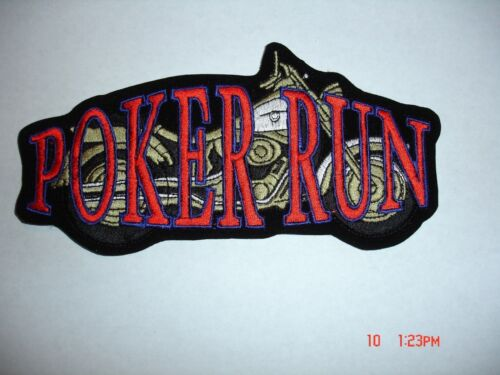 POKER RUN AVAILABLE IN 2 SIZES PATCH