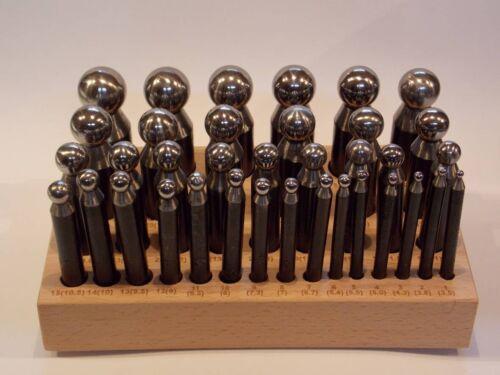 show original title Details about  /Imbottitori Steel 36 pcs 3.5 to 25.3 mm imbottitoi Base Wood Goldsmith Doming PU