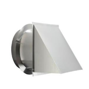 Details About 12 In Round Duct Wall Cap Aluminum Range Hood Vent Bird Screen Backdraft Damper