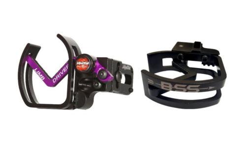 RH Black with Purple Arm and BSS Logo Vaportrail Limb Driver Pro V Arrow Rest