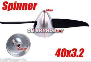Spinner Alu  silber 40-3,2