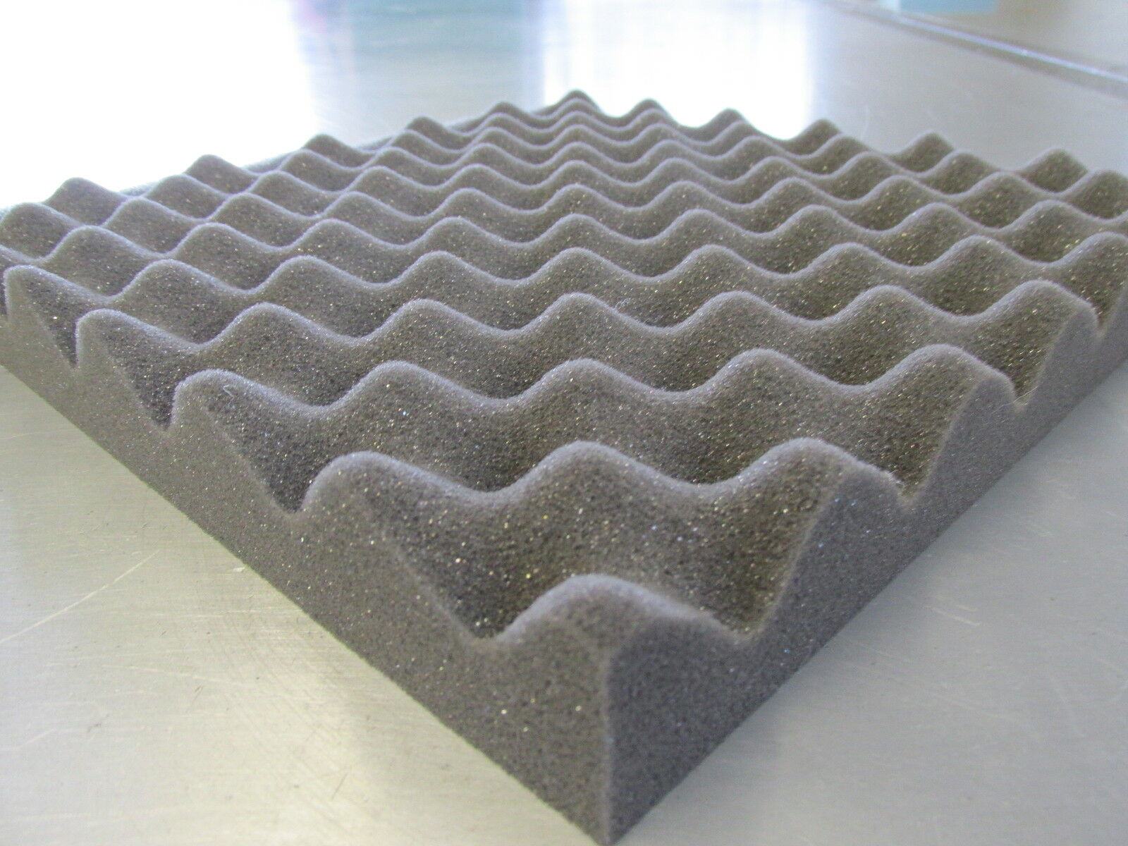 Egg Box Acoustic Foam Treatment Tiles (30m2) & 3 cans of glue -(20  x 20  x 40m)