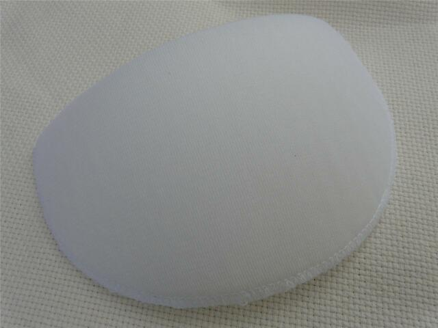 1 PAIR MEDIUM WHITE SHOULDER PADS FREE P/&P UK D-SHAPE