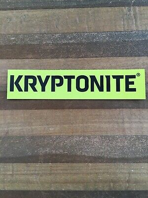 KRYPTONITE LOCK CYCLING STICKER DECAL BIKE NEW TREK MTB