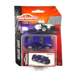 Majorette-212053152-Nissan-GT-R-7-matt-lila-Deluxe-Cars-Massstab-1-61-NEU