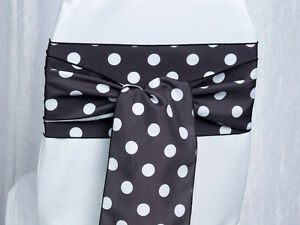 Delicieux Image Is Loading 100 Polka Dot Shiny Satin Chair Sashes Bows