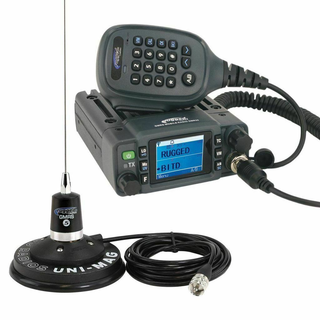Rugged Radios Radio Kit - GMR-25 Waterproof GMRS Band Mobile Radio with Antenna. Buy it now for 308.00