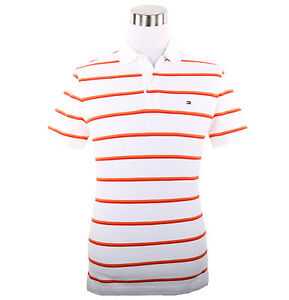 Tommy Hilfiger Men Short Sleeve Custom Fit Stripe Pique Polo Shirt $0 Free Ship