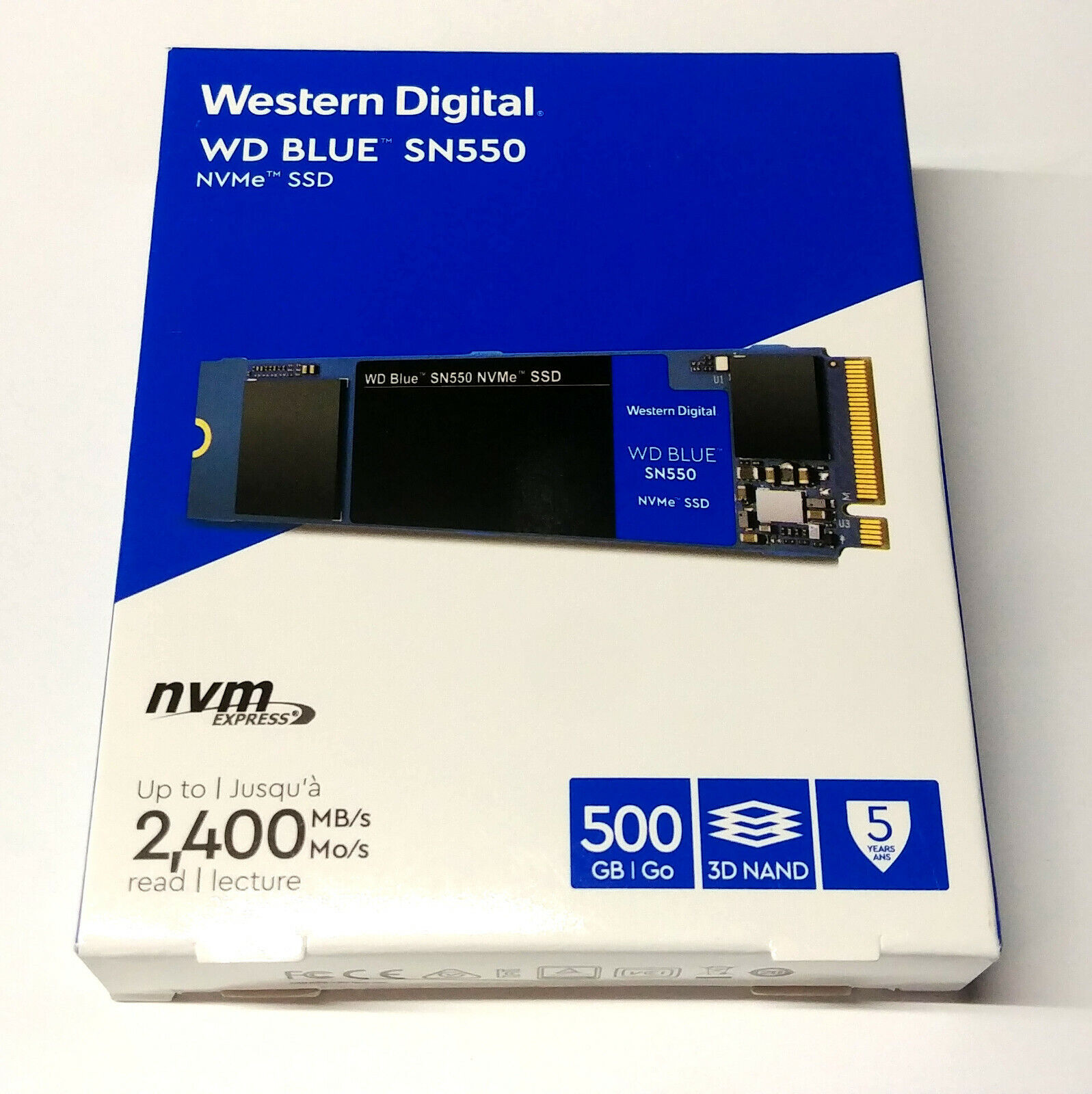 Western Digital Blue SN550 NVMe 500GB Solid State Drive (SSD), Internal M.2 2280. Buy it now for 57.95