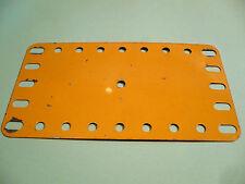 Meccano yellow Flexible Plate, 4.5 x 2.5 inch, part 191