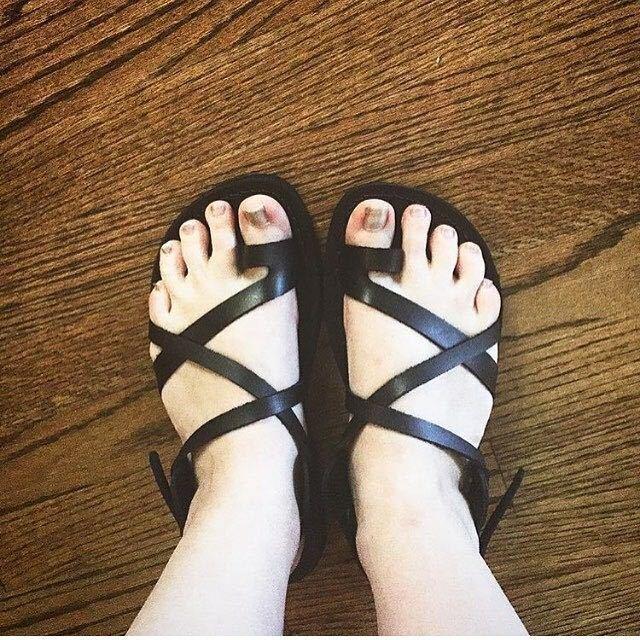 Black Leather Sandals Womens Gladiator Strap Biblical Jesus UK (3-8) EU(36-42)