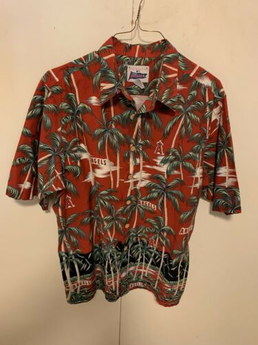 Reyn Spooner Anaheim Angels Hawaiian Shirt  XL  lo