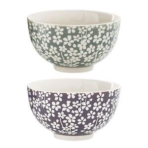 Bloomingville Seeke Schale Schüssel Flowers Keramik Blümchen