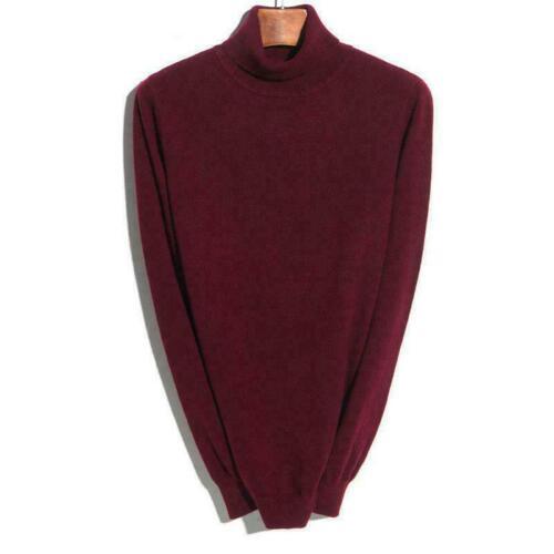 Men/'s Collar Cashmere Long Sleeve Winter Warm Sweater Turtleneck Pullover RBWN