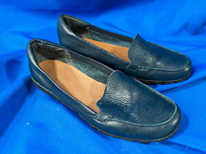 Easy-Spirit-Navy-Blue-Leather-Shoes-Womens-Size-8-5-M-Loafer-Dress-Casual