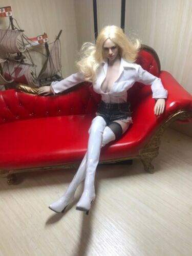 """1:6 Scale Women Leather High Boots Hollow For 12/"""" Female Phicen Body Doll Toy"""