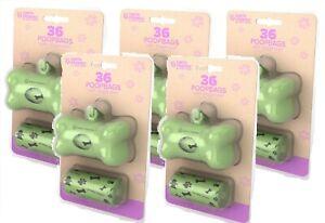 5-Pack-Earth-Friendly-Bone-Shaped-Poop-Bag-Dispenser-2-Refill-Rolls-Per-Pack