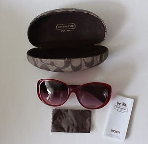 f036e96134ddb Image is loading Auth-Coach-Women-039-s-Burgundy-Sunglasses-Sabrina-